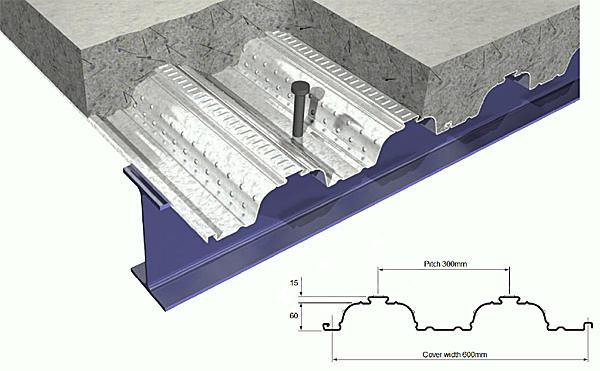 Steel Decking Slab : Metfloor